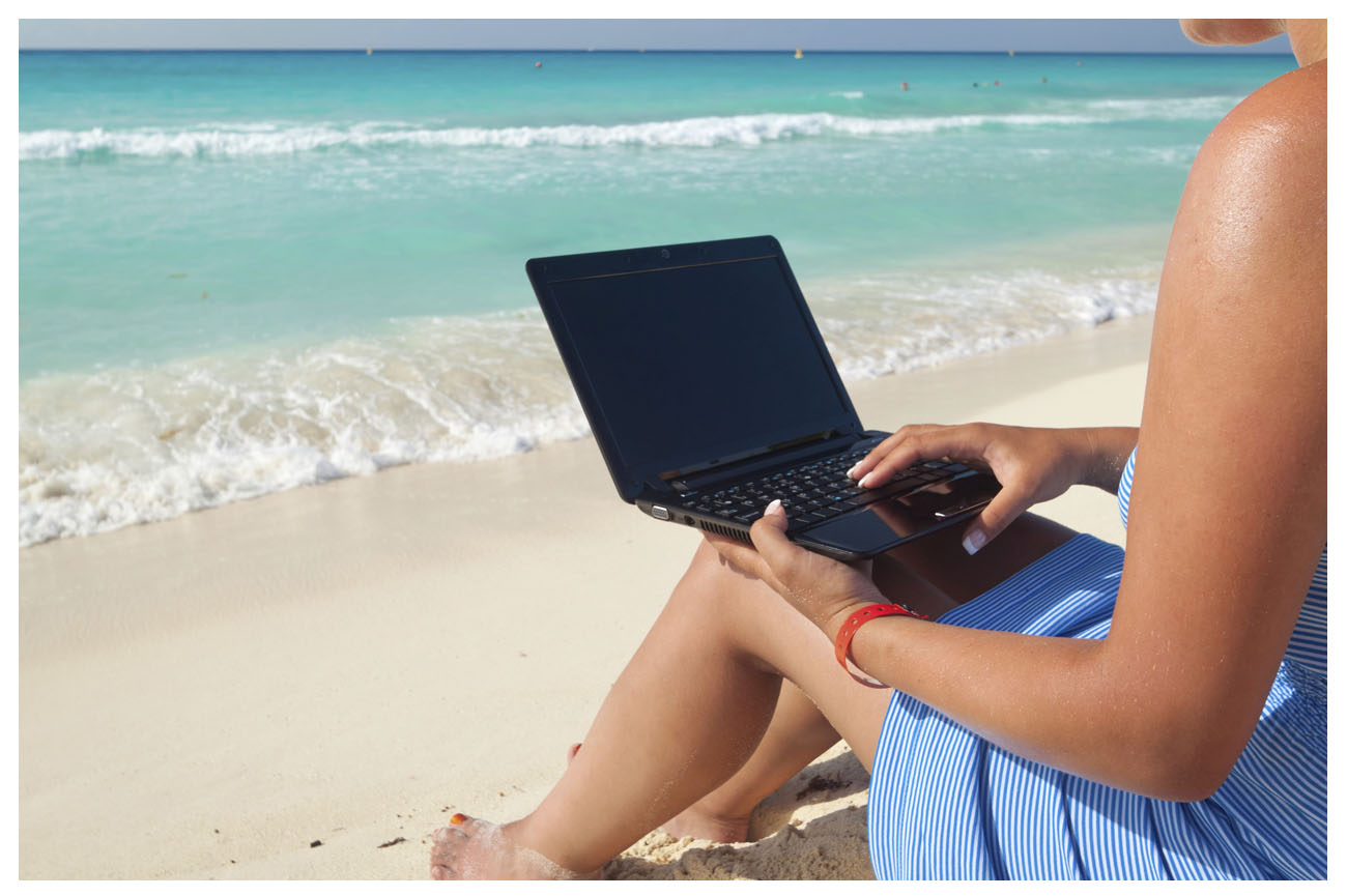 Online Services - Beach Laptop